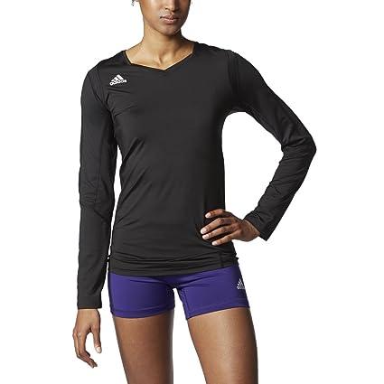 Amazon.com   adidas Women s Volleyball Quickset Long Sleeve Jersey ... e34844e00