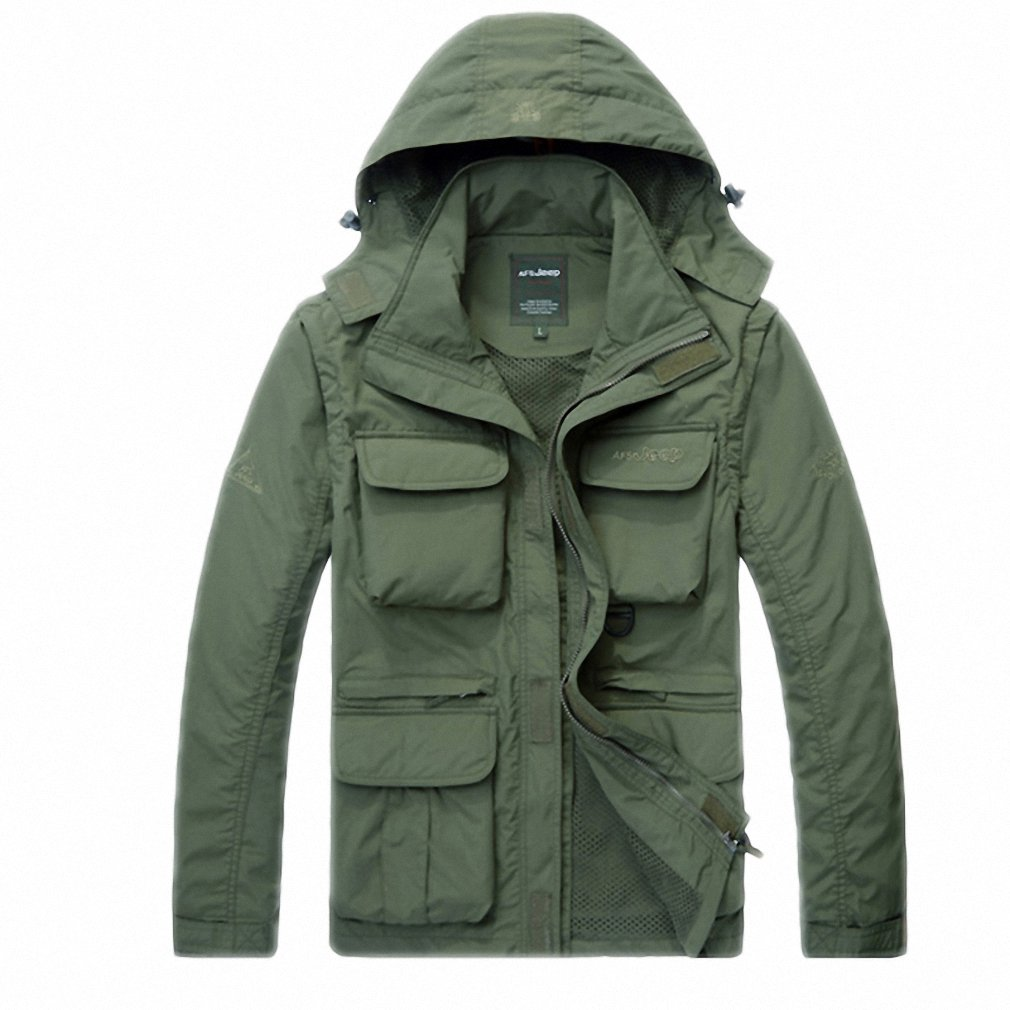 Amazon.com: NEW Mens Jacket Army Casual Hooded Mesh Bomber Jacket Men Outerwear Windproof Coat: Clothing