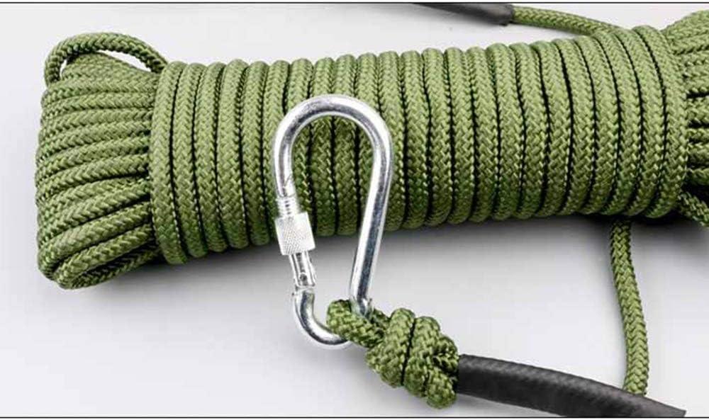8mm x 20m Stahlkern im Freien Klettern Berg Flucht Seil mit Doppelhaken HAIZHEN Fire Safety Seil