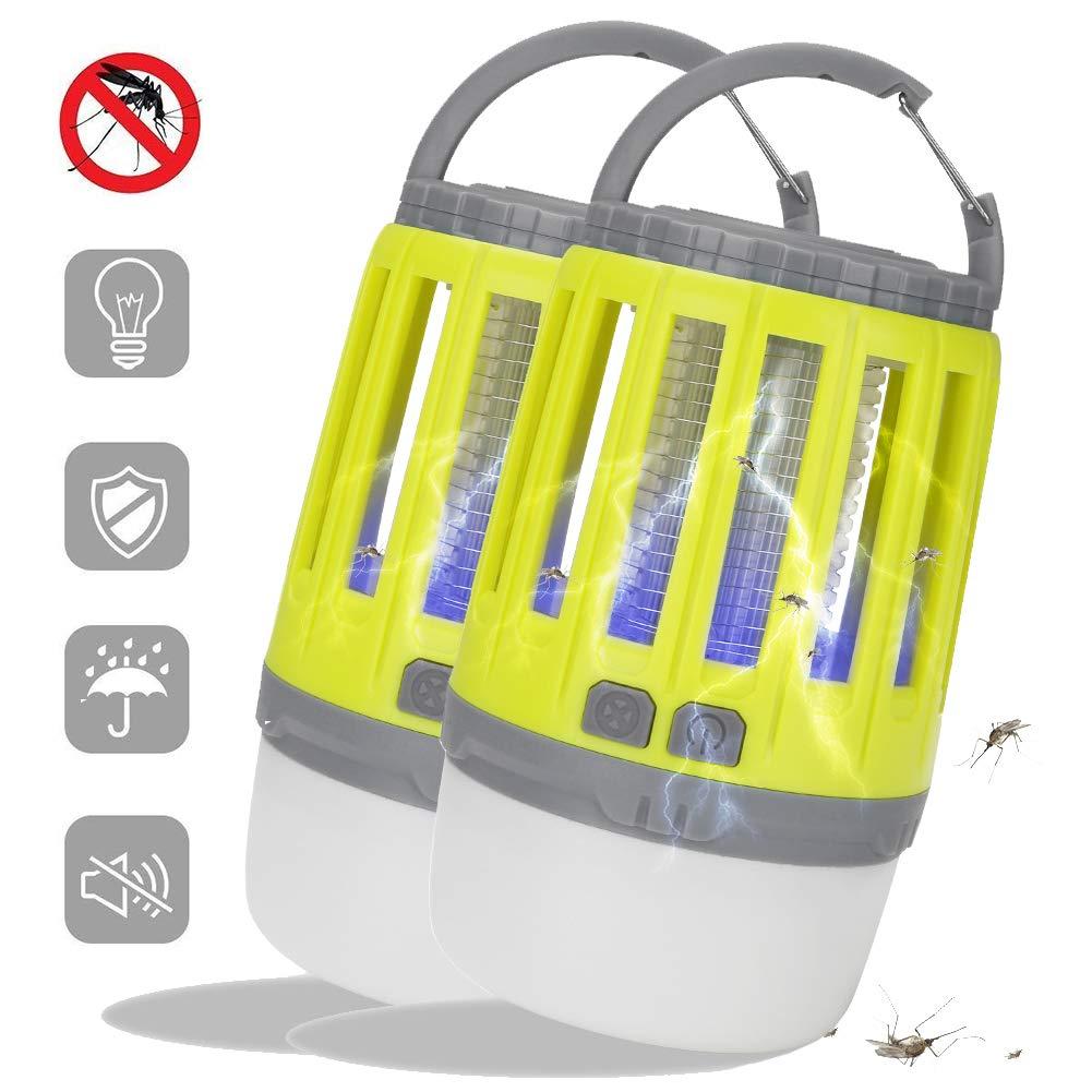 promozioni di sconto SHENGY SHENGY SHENGY Bug Zapper, Repellente antizanzare Impermeabile all'Aria Aperta, Luce della Tenda Portatile, Ricarica USB, 3 modalità, per Il Campeggio, Camera da Letto,giallo,2PCS  Sconto del 70%