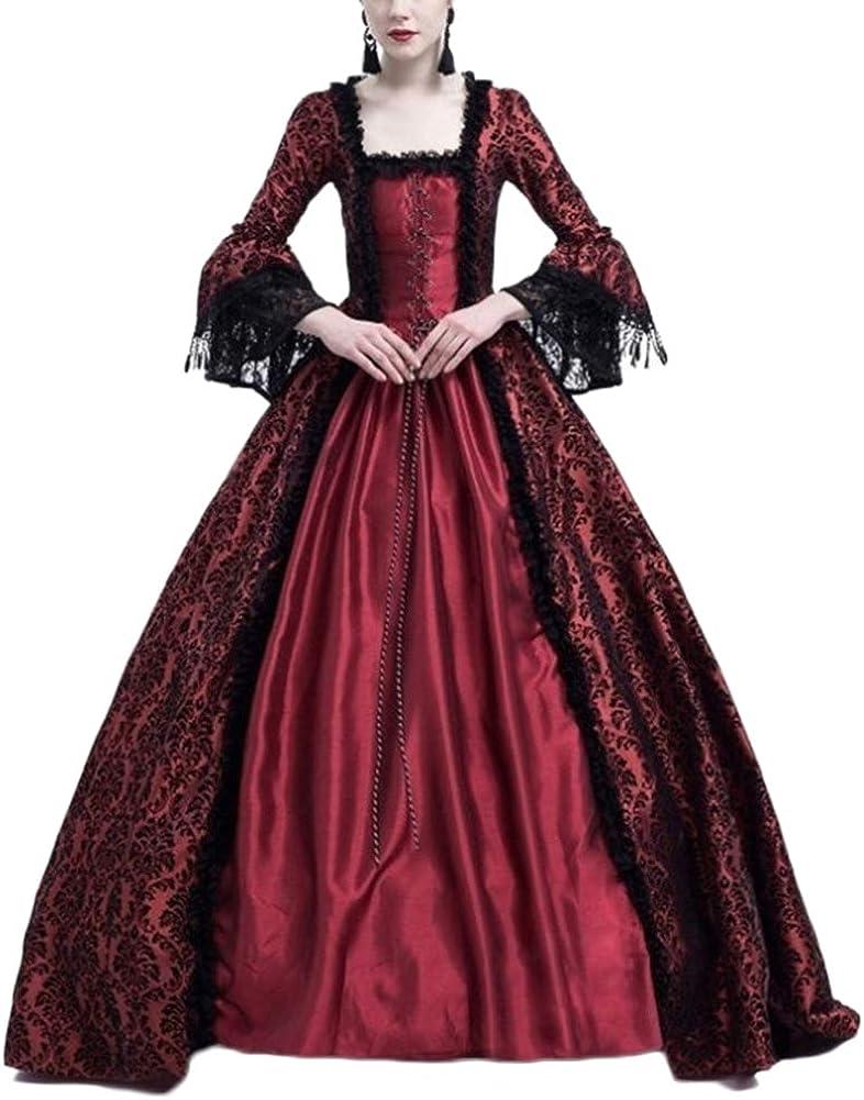 LaoZanA Disfraz De Medieval para Mujer Vestido Renacentista Traje De Princesa