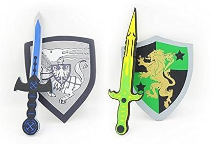 Amazon.com: Espuma espadas y Escudos (White Eagle VS dorado ...