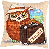 RTO Voyager Collection D'Art Stamped Needlepoint Cushion Kit, 40 x 40cm