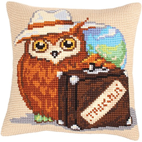 RTO Voyager Collection D'Art Stamped Needlepoint Cushion Kit, 40 x 40cm by RTO