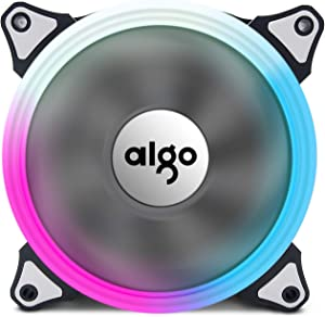 Aigo Aurora RGB LED 120mmCase Fan High Performance High Airflow Adjustable Colorful PC CPU Computer Case Cooling Cooler( Single Fan)