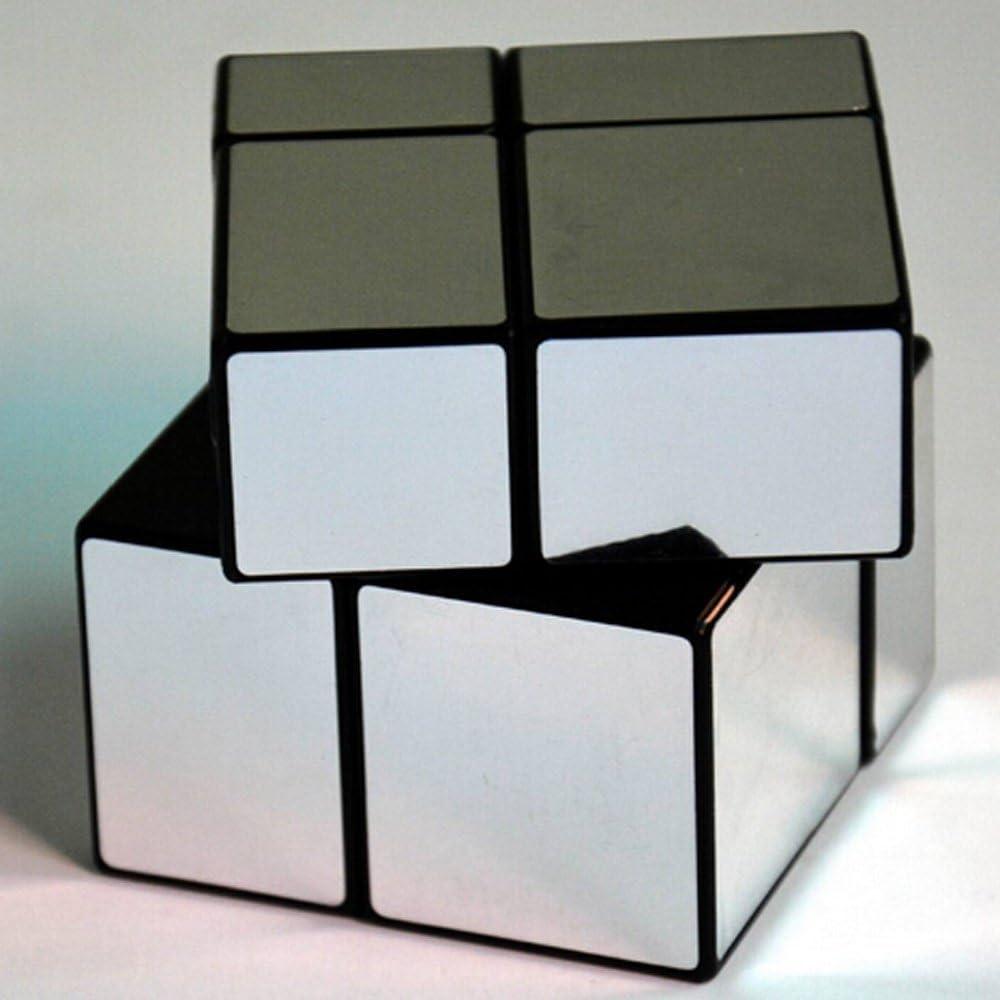 Silver PeleusTech/® FangGe MiTu Mirror Cube 2x2x2 Magic Cube Brain Teaser 57mm