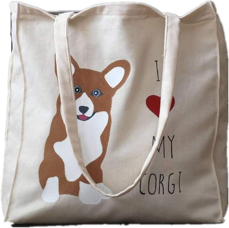 My Daily Women Tote Shoulder Bag Welsh Corgi Dog Handbag
