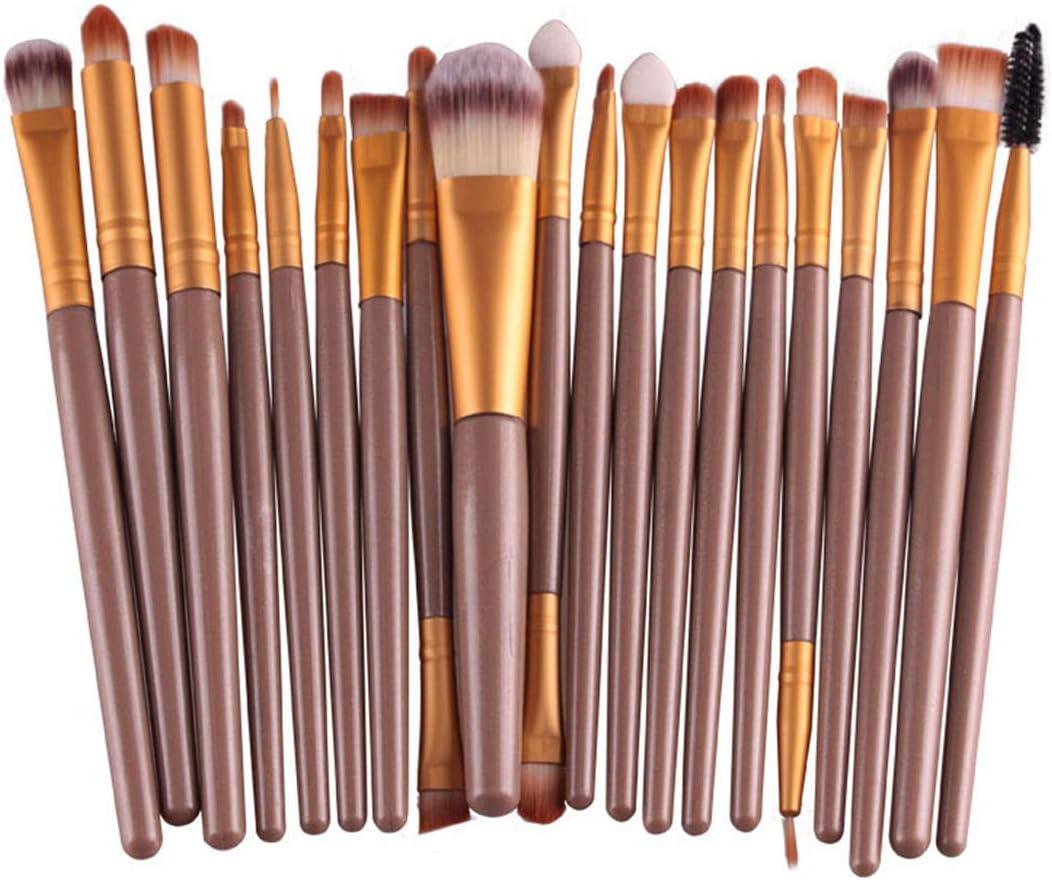 Lavany Makeup Brushes Set, 20 pcs/Set Makeup Brush Set Tools Make-up Toiletry Kit Wool Make Up Brush Set Clearence (Gold)