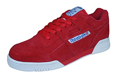 Reebok Classic Workout Plus Vintage Mens Sneakers/Shoes-Red-5