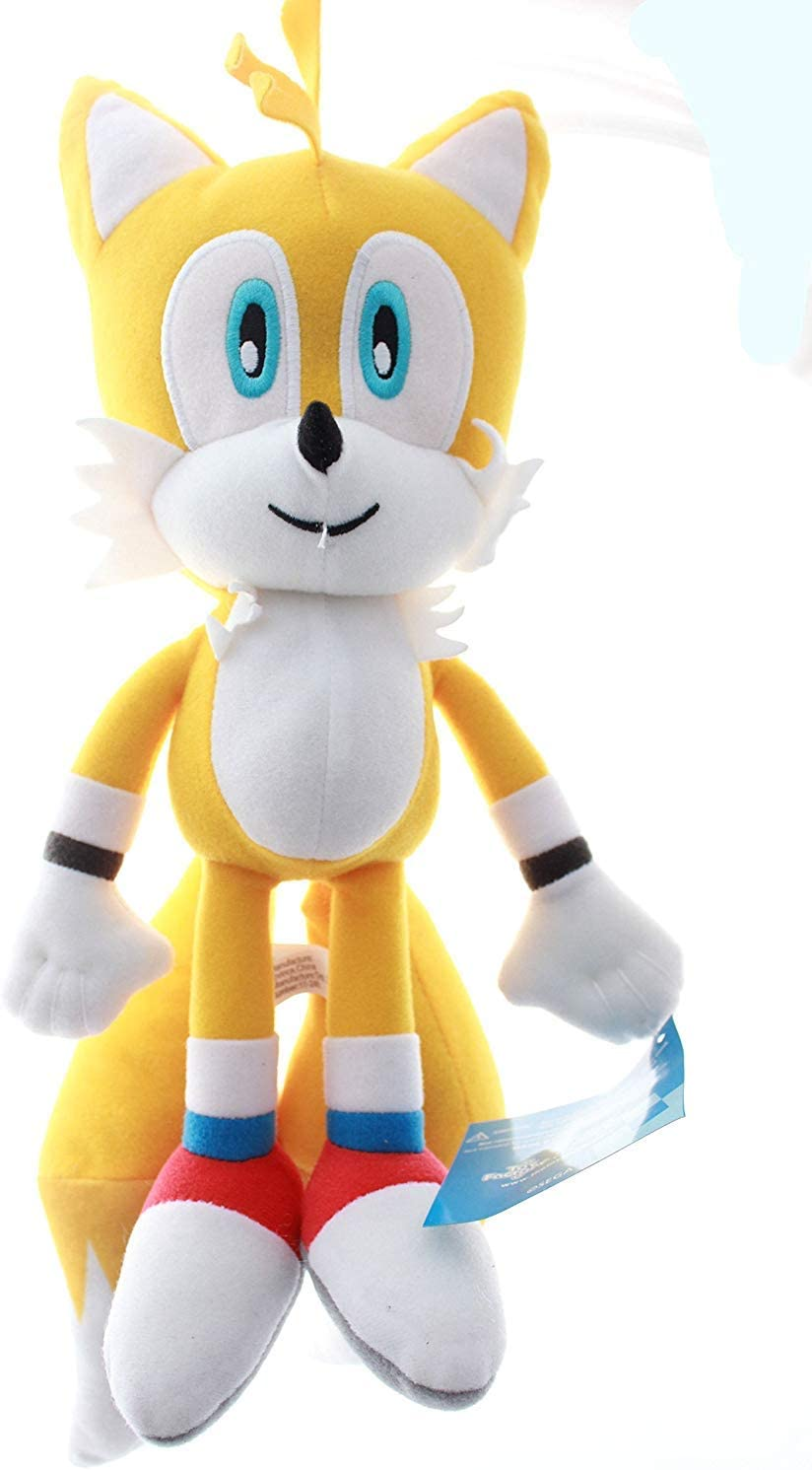 Amazon Com Sonic The Hedgehog Tails Plush Toy Large Toys Games