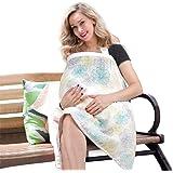 Motherly Nursing Breastfeeding Cover Scarf Cloth Cum Shawl (Black and Red)