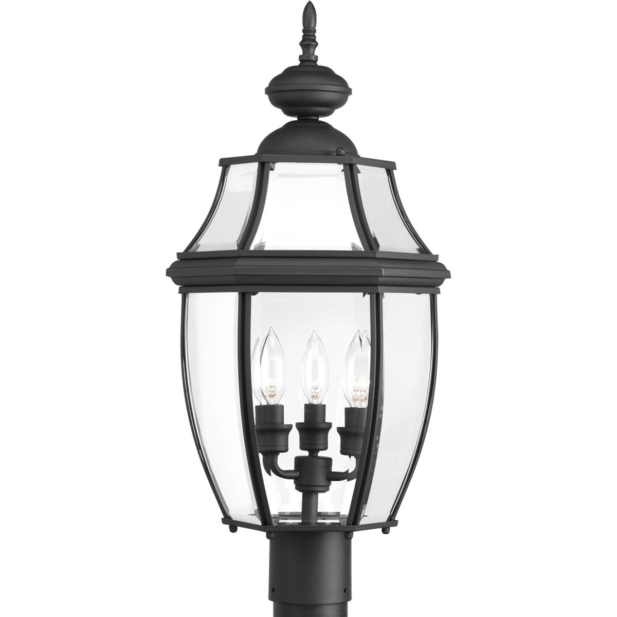 Progress Lighting P6433-31 New Haven Three-Light Post Lantern, Stainless Steel