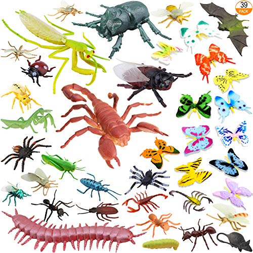 [39 Pack] Bug Insects Toy Figures for Kids Boys - 2-6