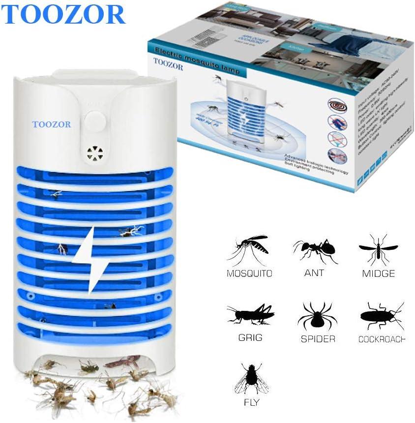 Lampara Anti Mosquitos Mata Inssectos Luz Azul Electrico Zapper Para El Hogar