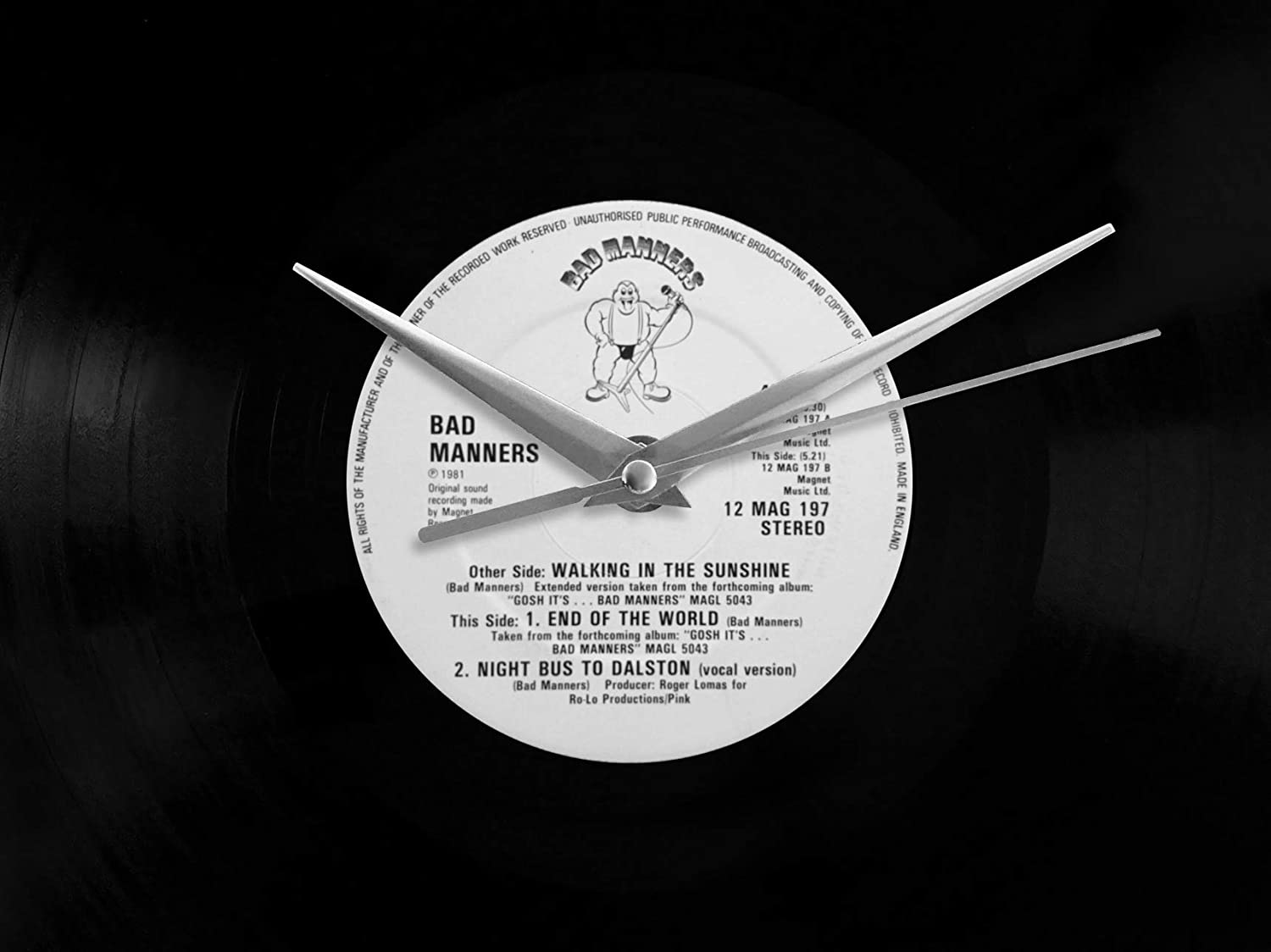 Bad Manners Walking In The Sunshine Vinyl Record Wall Clock