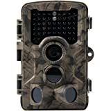 Crenova Trail Camera Hunting Camera 12MP 1080P Scouting Camera with Low Glow Black Infrared LEDs, Color View, 80ft Detection Range and 125°Detection Angle