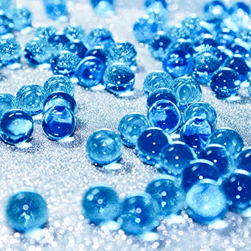 Hicarer 10000 Pieces Vase Filler Beads Gems Water Gel Beads Growing Crystal Pearls Wedding Centerpiece Decoration (Blue)