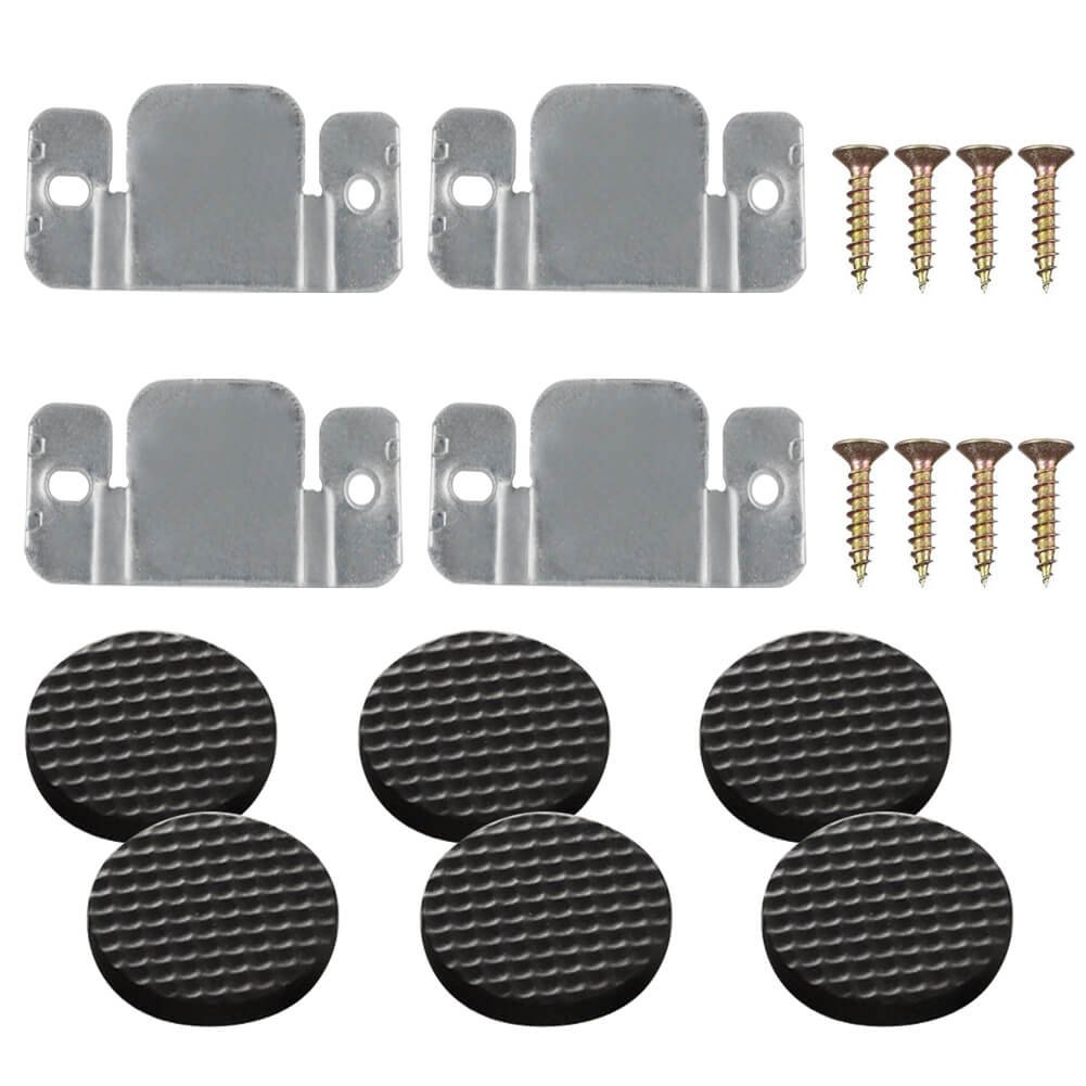 Paxcoo 4 Pack Sectional Sofa Connector Couch Furniture Interlocking Software Bracket with Screws and 12Pcs Furniture Pads