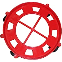Tomar Trading Gas Cylinder Plastic Trolley with Wheels Multicolour Pack of 1