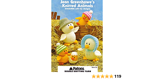Jean Greenhowe Knitting Pattern Book irresistible soft toys Knitted Animals