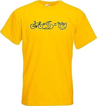 Hombre Camiseta de Manga Corta Bicicleta de Carretera Feliz ...