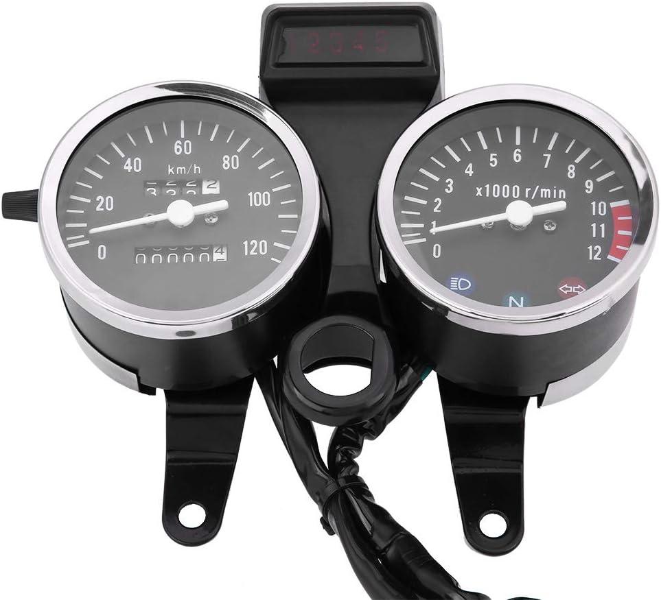Kimiss Motorrad Geschwindigkeitsmesser Kilometerzähler Drehzahlmesser Drehzahlmesser Für Gn125 Auto