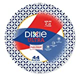 """Dixie Ultra Paper Plates, 10 1/16"""", 44 Count, Dinner Size Printed Disposable Plates"""