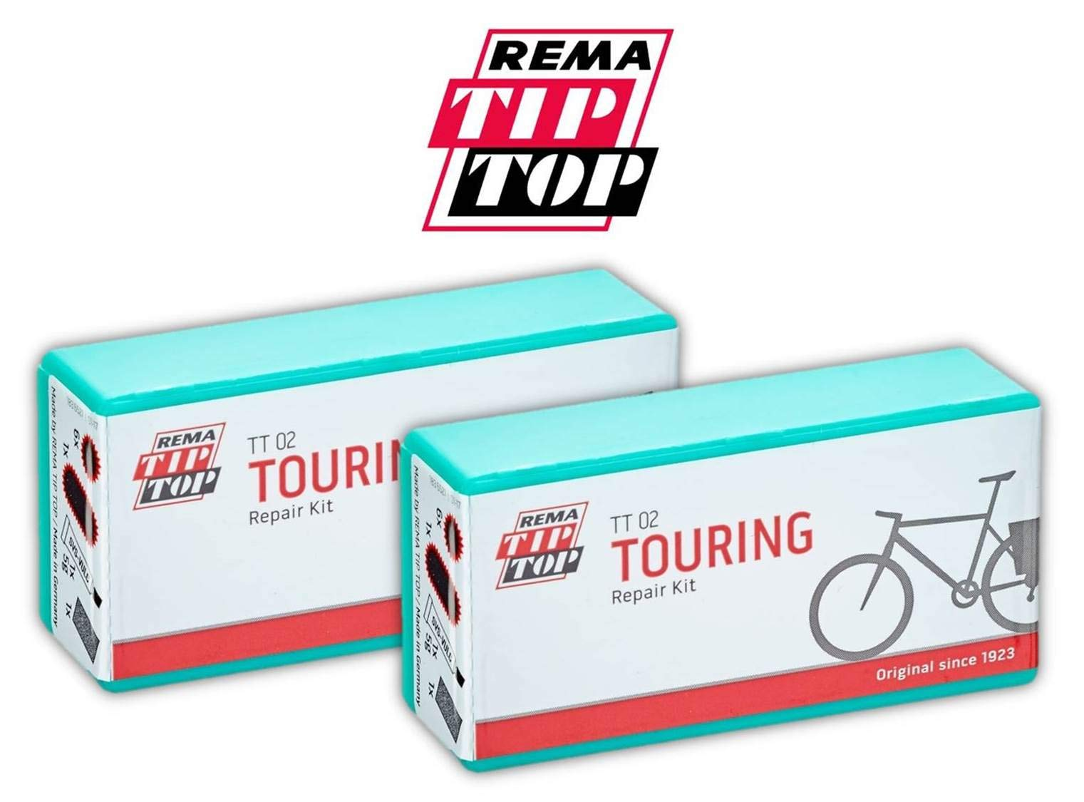 Rema Tip Top TT02 Touring Tube Puncture Repair Kit, Large - Two (2) Pack by Rema Tip Top (Image #1)