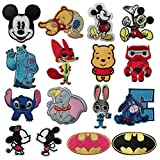 Disney Patches 16 Pcs Iron On Sewing Embroidered Patches for Clothing, Backpack, Cap, Jacket, Jeans