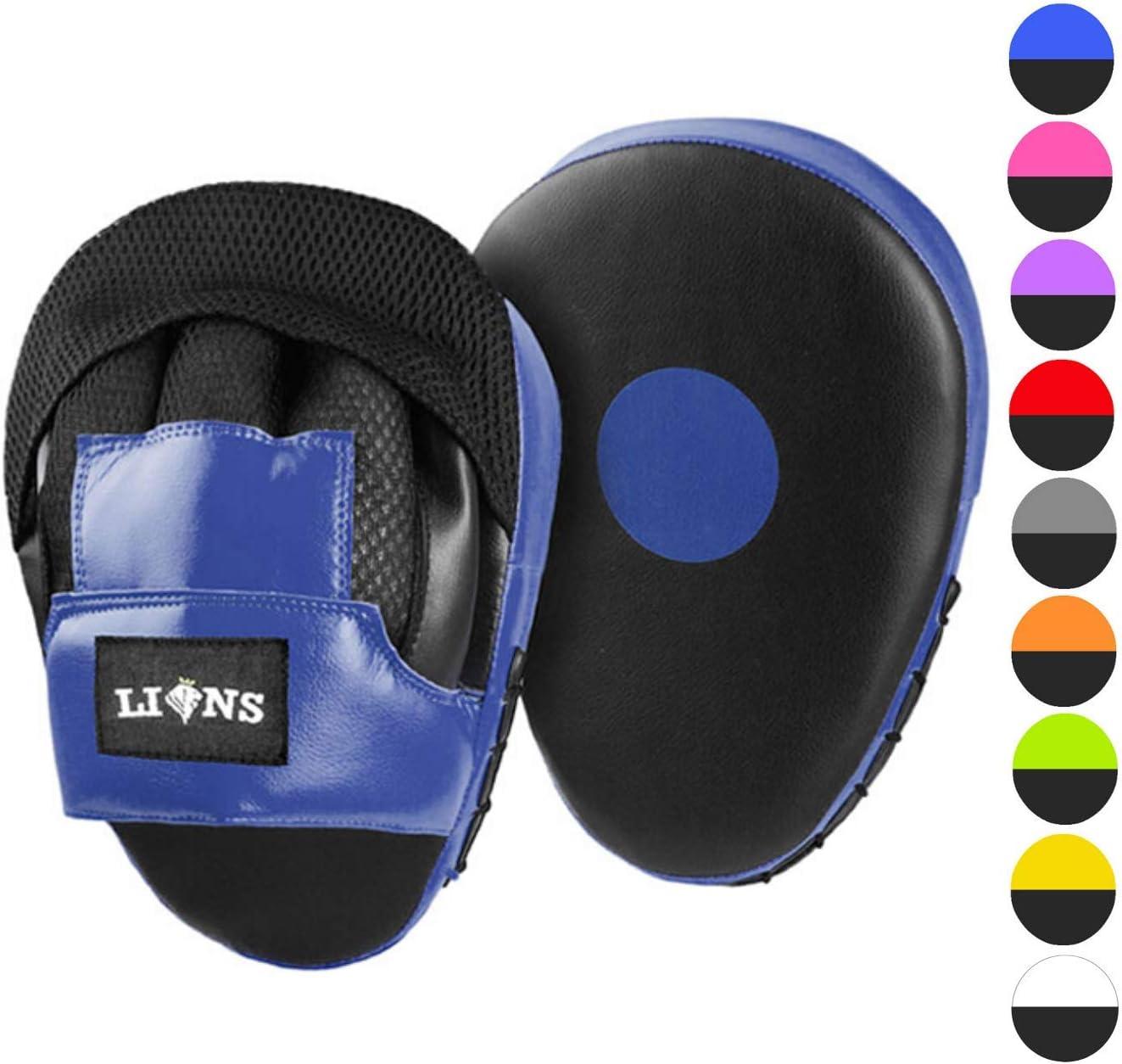 de Lions Guantes abiertos para golpes curvos para entrenamiento de artes marciales golpes directos de izquierda, ganchos y patadas