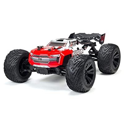 ARRMA 1/10 KRATON 4X4 4S BLX Brushless 4WD RC Speed Monster Truck RTR with 2.4GHz Spektrum Radio (Battery Not Included), Red (ARA102690): Toys & Games