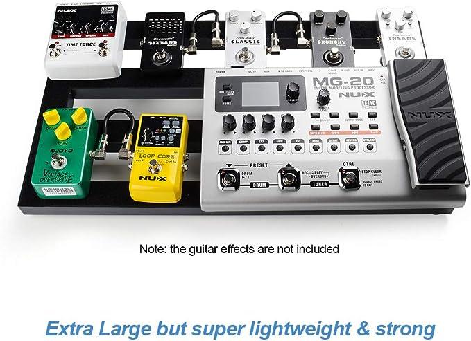 Tabla de pedales de guitarra grande, 22.2 pulgadas x 12.78 ...