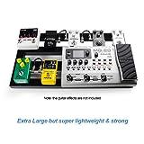 "Guitar Pedal Board Large, 22.2"" x 12.78"" x"