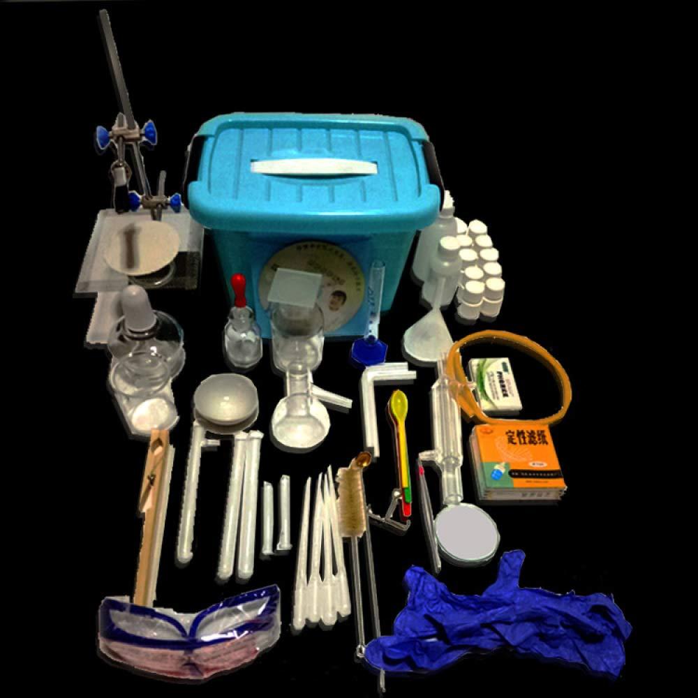 Juler Lernspielzeug STEM Toys Science Kits Chemische Experimentierbox für Einsteiger Vollsatz Reagenzien Medizinglas Instrument Box,Blau,Einheitsgröße