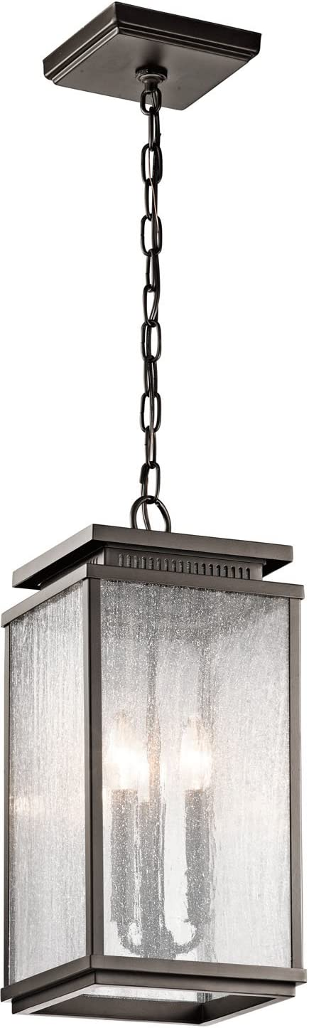Kichler 49387OZ, Manningham Cast Aluminum Outdoor Ceiling Lighting, 225 Watts, Olde Bronze