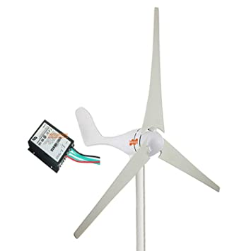 MarsRock Small Wind Turbine Generator + Wind Controller, AC 12Volt Or  24Volt,400W Economy