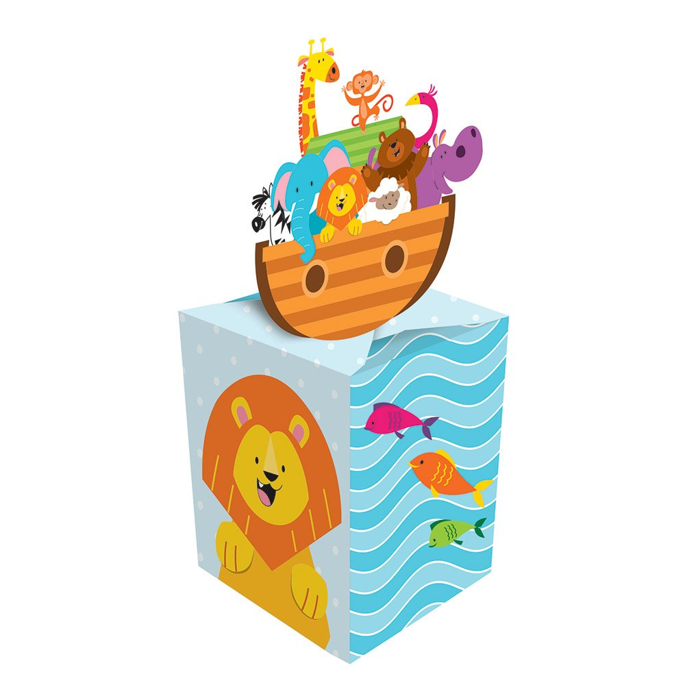 Amazon.com: Creative Converting 317676 8-Count Paper Favor Boxes Noahs Ark Animals: Kitchen & Dining