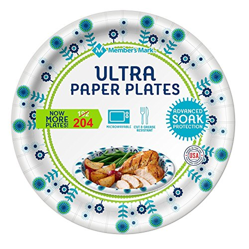 Member's Mark Ultra Paper Plate, 10-1/16 Inch, 192 Count