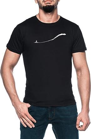 Grande Ola Surf Hombre Negro Camiseta Manga Corta Mens Black ...