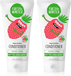 product image for Fresh Monster Natural, Toxin-free Kids Hair Conditioner, Strawberry Smoothie (2 Pack, 6oz/ea)