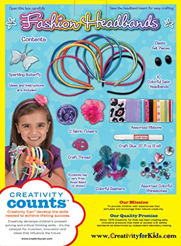 Creativity for Kids Fashion Headbands Craft Kit, Makes 10 Un
