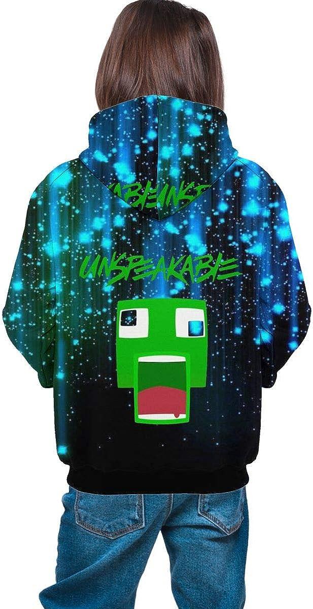 HODBAH0 UNSPEAKABLE Fan Kids Graphic Pullover Hoodies Children Casual Hooded Pocket Sweatshirt