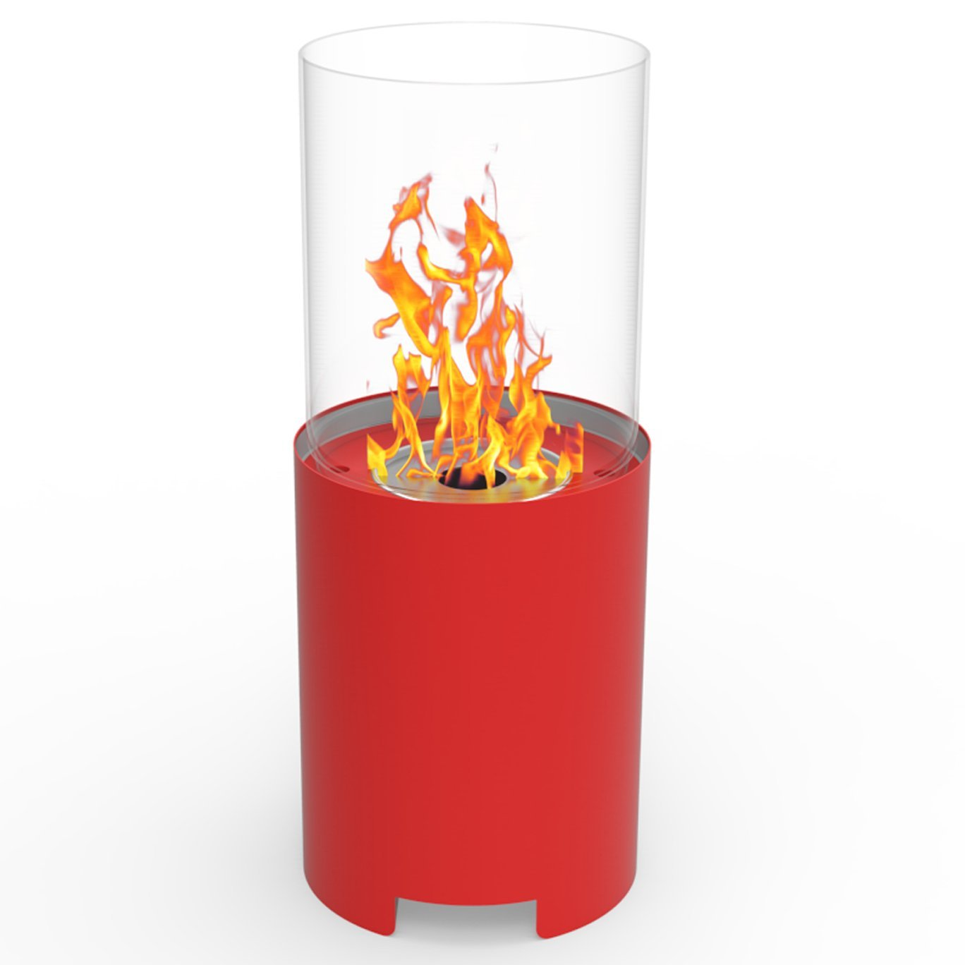 Regal Flame Capelli Ventless Indoor Outdoor Fire Pit Tabletop Portable Fire Bowl Pot Bio Ethanol Fireplace in Red - Realistic Clean Burning like Gel Fireplaces, or Propane Firepits