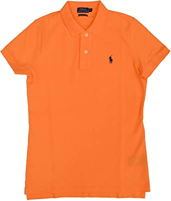 Ralph Lauren Polo Skinny Camisa de Polo T.M, Naranja: Amazon ...