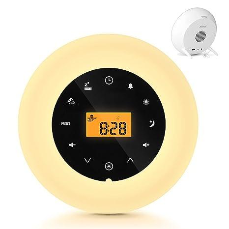 Alarma Reloj Despertador, Luz LED AGPtEK Nuevo Estilo 2018 ...