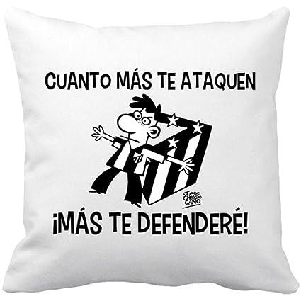 Cojín con relleno Atlético de Madrid mas te defendere blanco ...