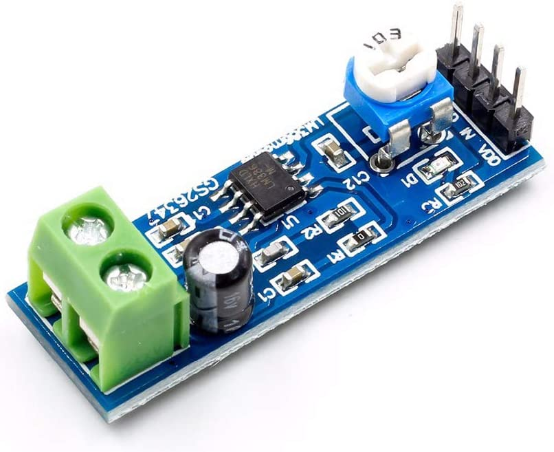 DC 5V-12V Audio Amplifier 200 Times Gain Mono Module LM386 AMP Board