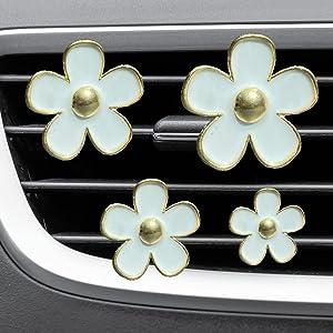 4xPACK Car Accessories Cute Car Decoration Air Fresheners Car Accessories For Women Cute Interior Air Vent Clips Decorations Car Clip Interior Air Vent Car Decor GIFT MARGERITA