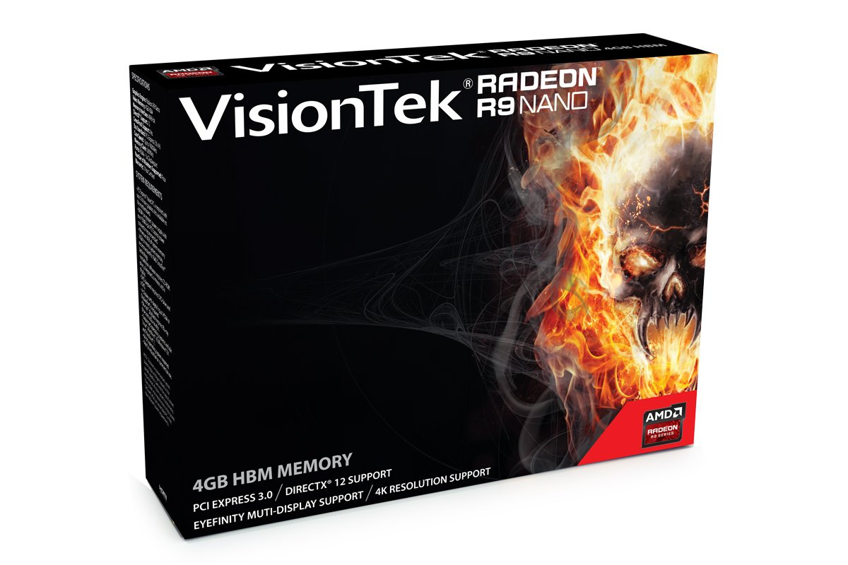 VisionTek Radeon R9 Nano 4GB HBM 4M (3x DP, HDMI) Graphics Card - 900829