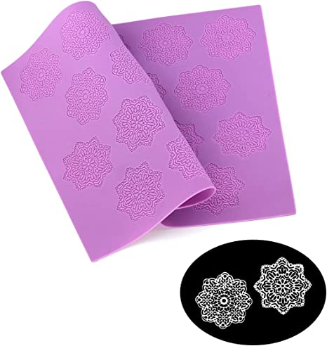 Lace Silicone Mould Fondant Craft Mat Cake Cookie Decorating Baking Tools